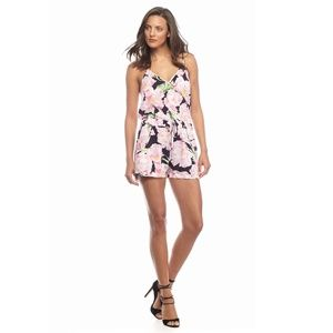 NWT French Connection Holiday Poppy Floral Romper